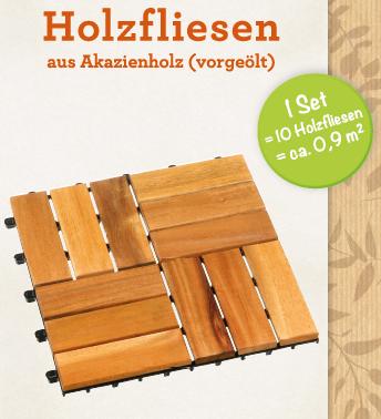 Holzfliesen aus Akazienholz 10er Set Art.Nr.:1484