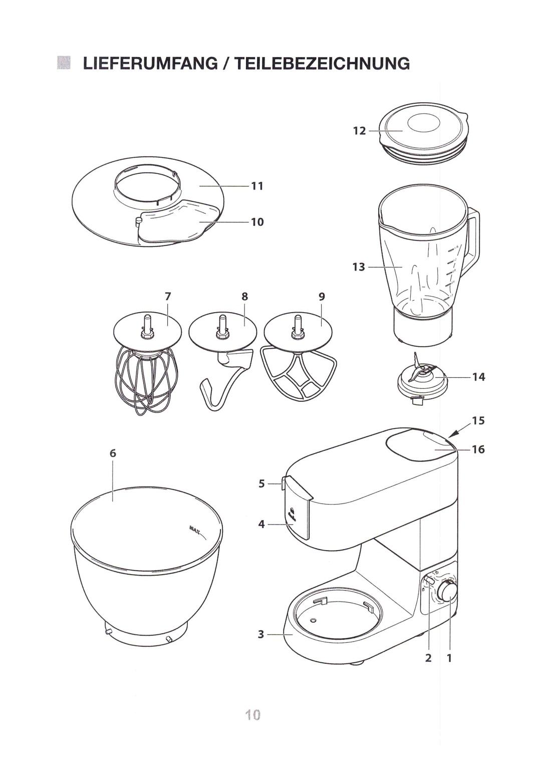 Profi Küchenmaschine GT-PKM-01 E-47091 | Küchenmaschine ...