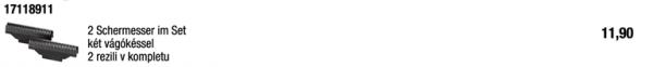 Klingenblock mit Doppelschermesser / 17118911