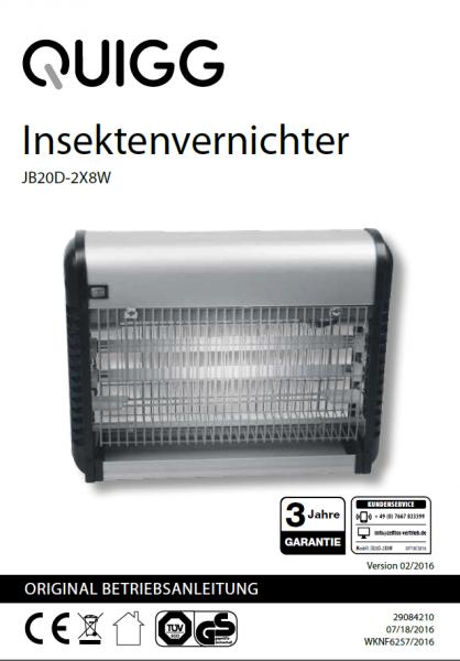 Bedienungsanleitung / JB20D-2X8W eckig
