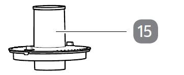 15. Entsafterschüssel-Deckel