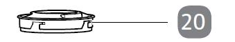 20. Standmixer-Deckel mit Einfüllöffnung